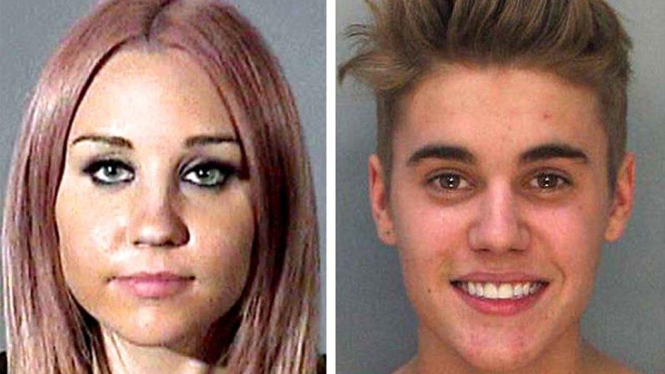 Celebrity Mugshots Amanda Bynes Justin Bieber Jen Harley