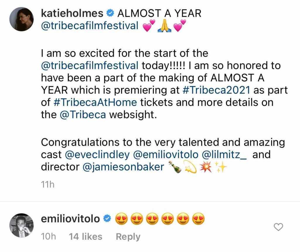 Katie Holmes Supports Ex-Boyfriend Emilio Vitolo After Split
