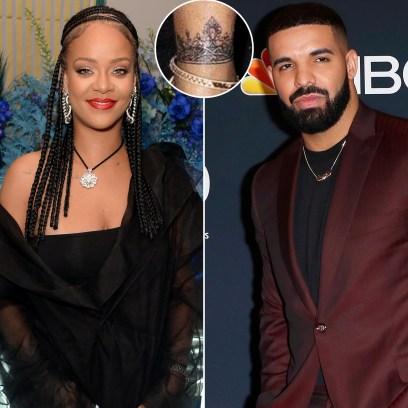 Rihanna Seemingly Covers Up Shark Tattoo She Got With Ex Drake