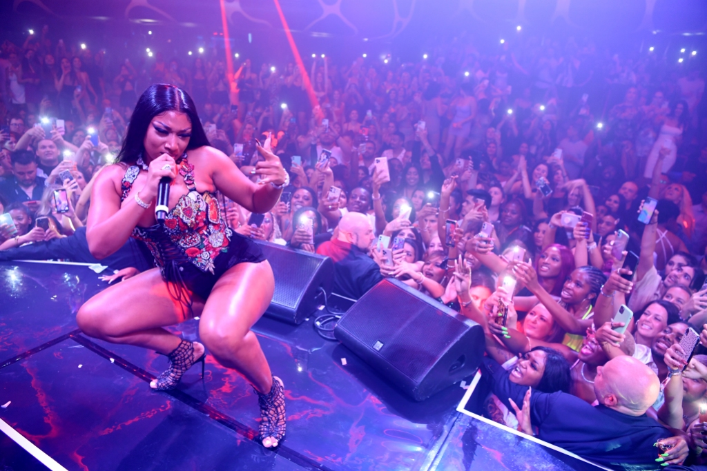 Megan Thee Stallion Hosts a Hottie Party WithD'Usseat Hakkasan Nightclub in Las Vegas