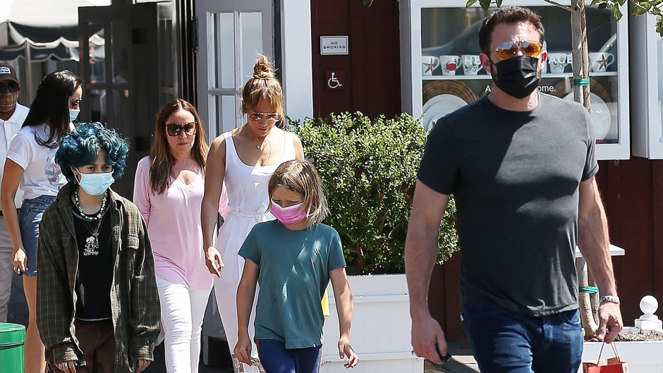 Jennifer Lopez and Ben Affleck Spotted Shopping With Son Sam and Daughter Emme in Brentwood