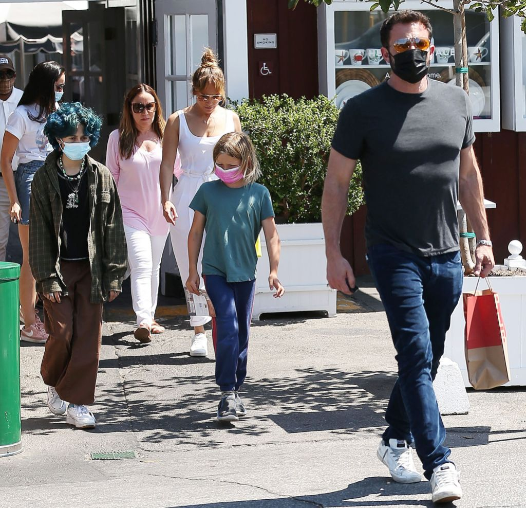 Jennifer Lopez and Ben Affleck out and about, Brentwood Country Mart, Los Angeles, California, USA - 09 Jul 2021