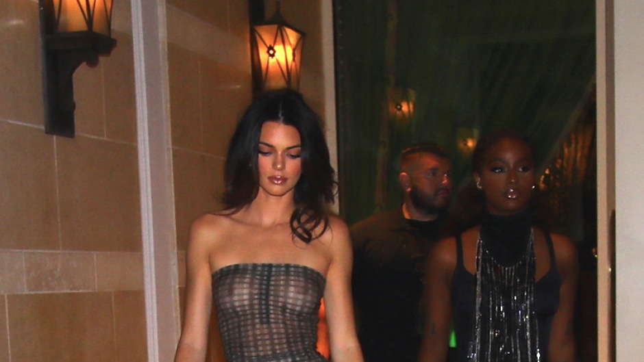 Kendall Jenner Rocks Sheer See-Through Top During Club Outing