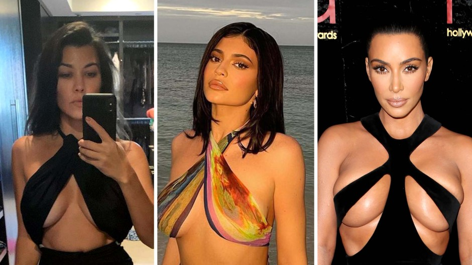 The Kar Jenners Show Off Underboob Trend See Skin Baring Styles