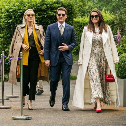 Tom Cruise Attends Wimbledon With 'Mission: Impossible 7' Costars Hayley Atwell and Pom Klementieff