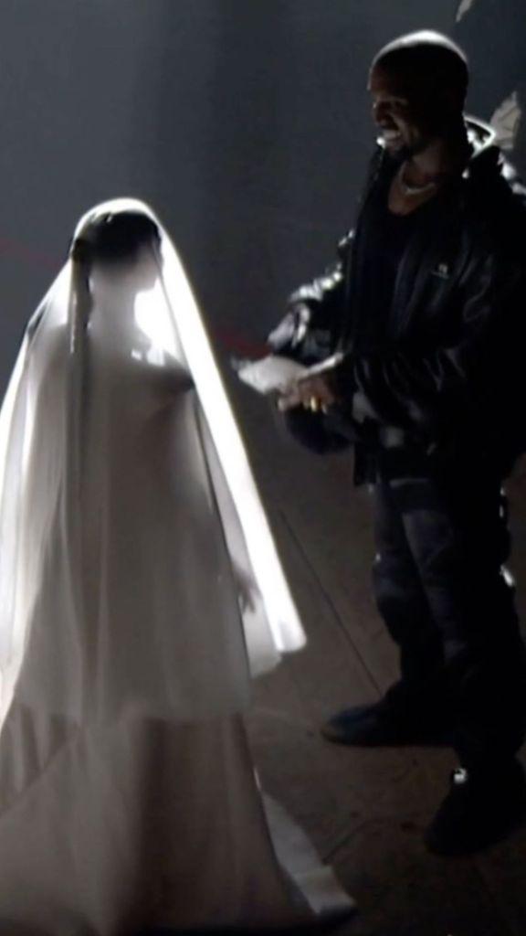 Kim Kardashian Wears Bridal Dress for Kanye West's 'Donda' Event