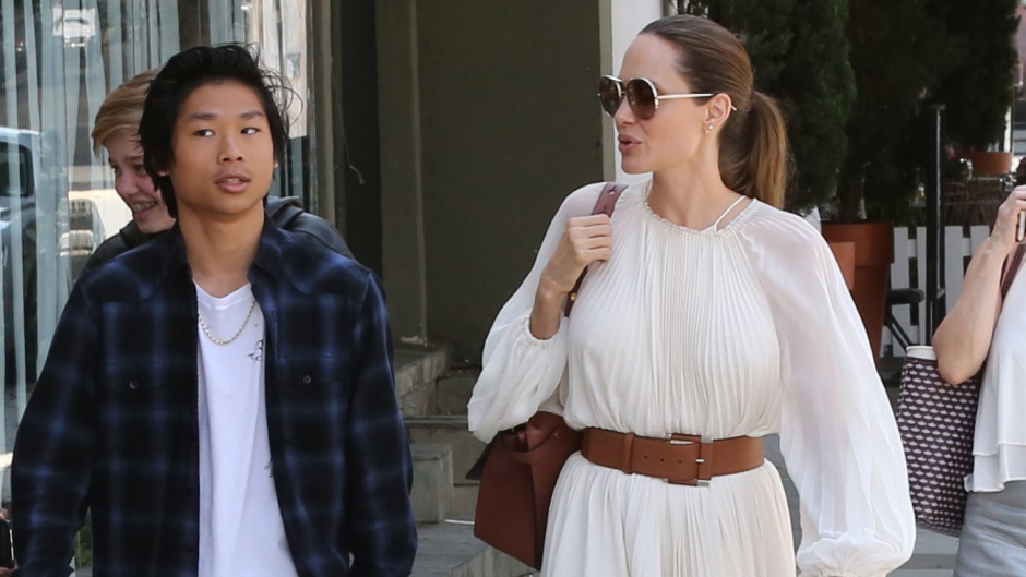 Angelina Jolie's Sweet Dinner Date With Son Pax: Photos