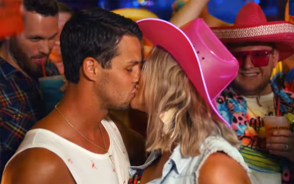 Miranda Lambert Shares Steamy Kiss With Husband Brendan McLoughlin In Tequila Does Video 3