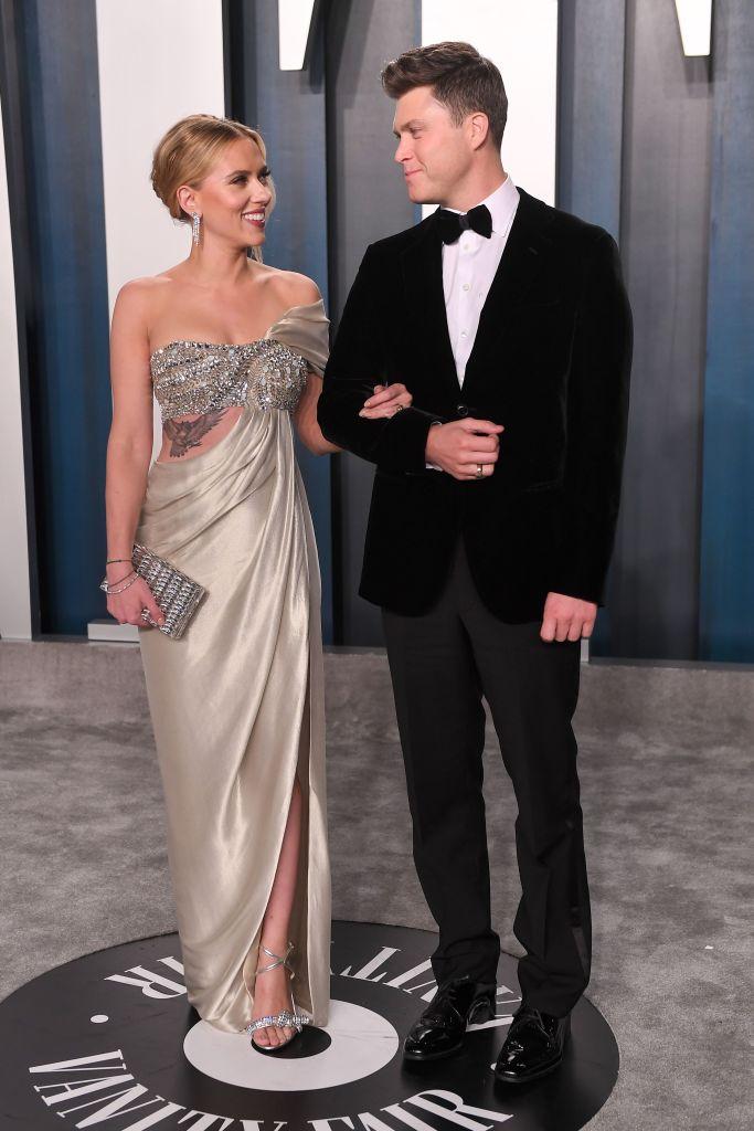 Scarlett Johansson Colin Jost Photos