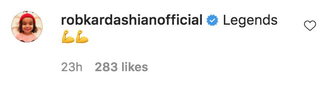 Rob Kardashian Comment