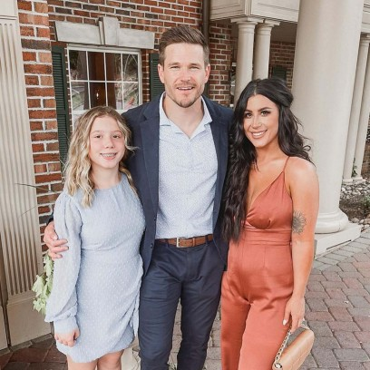 Chelsea Houskas Husband Cole Her Daughter Aubree Coordinate Outfits Wedding