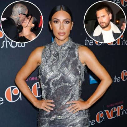 Kim Kardashian Reacts to Kourtney, Travis' PDA Amid Scott Drama