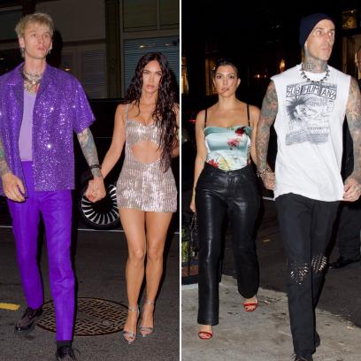Megan Fox, Machine Gun Kelly, Kourtney Kardashian and Travis Barker Double Date Post-VMAs