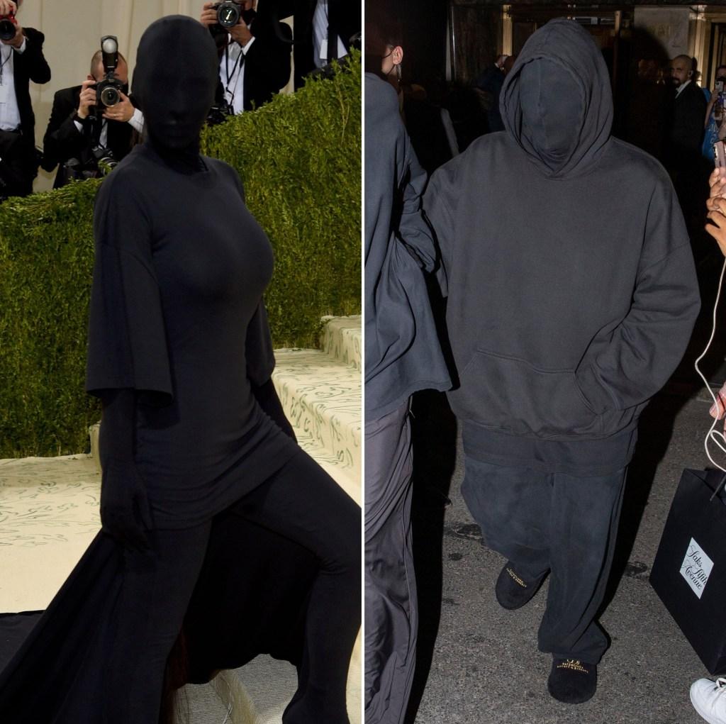 Kim Kardashian Matches Kanye West at Met Gala Amid Divorce