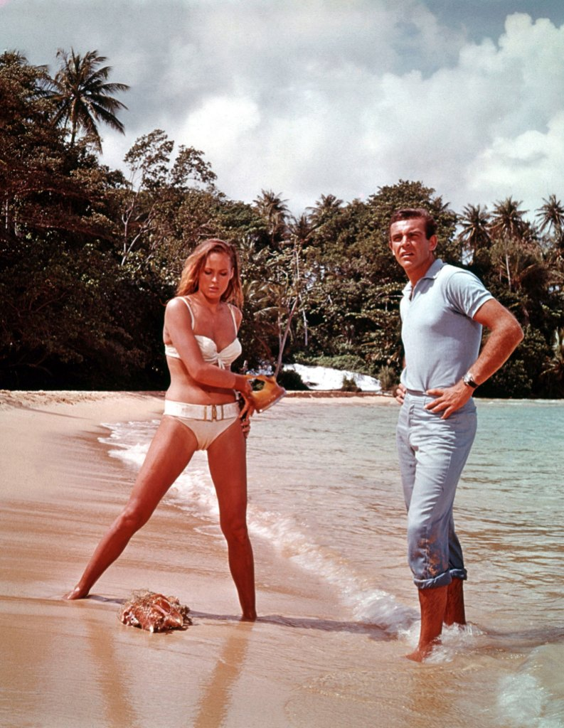 Sean Connery Ursula Andress Dr No James Bond 007 Movies Have Been Filmed in Some Beautiful Places
