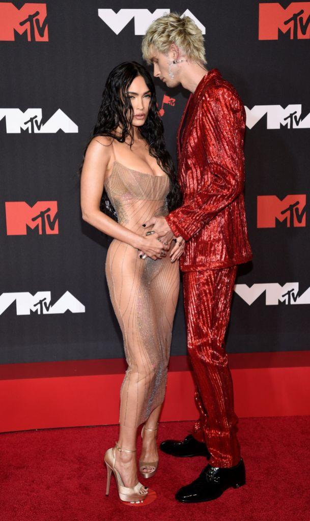 Machine Gun Kelly and Megan Fox 2021 VMAs: Red Carpet Photos
