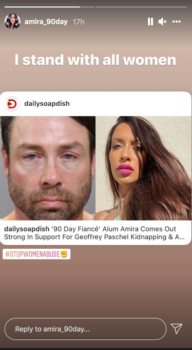 90 Day Fiance's Amira Says She Stands 'for All Women' After Costar Geoffrey's Found Guilty of Assault Charges
