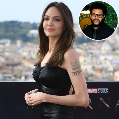 Angelina Jolie Dismisses a Question About Her Rumored Romance With The Weekend