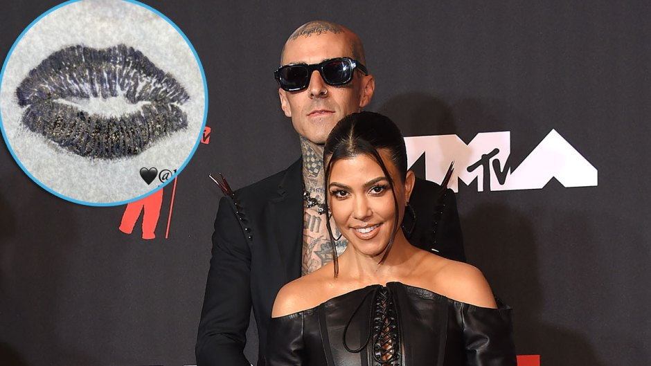 Travis Barker Tattoos Fiancee Kourtney Kardashian Lips on Him After Engagement IT