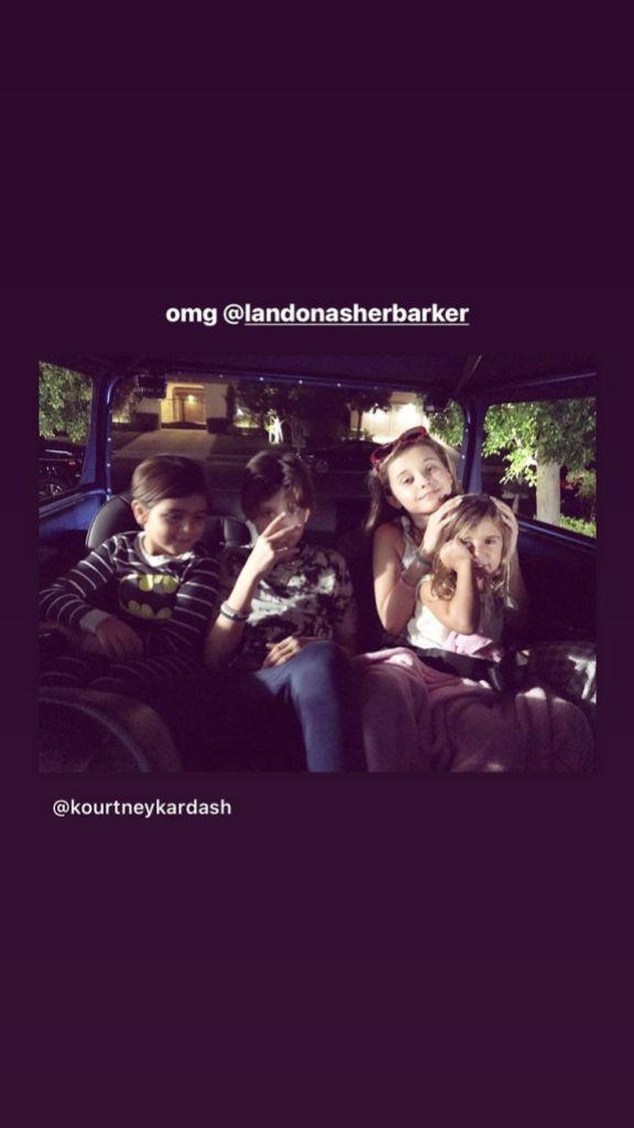 Nostalgia Alert!  Kourtney Kardashian Shares a Precious Photo of Her and Travis Barker's Children From 2017